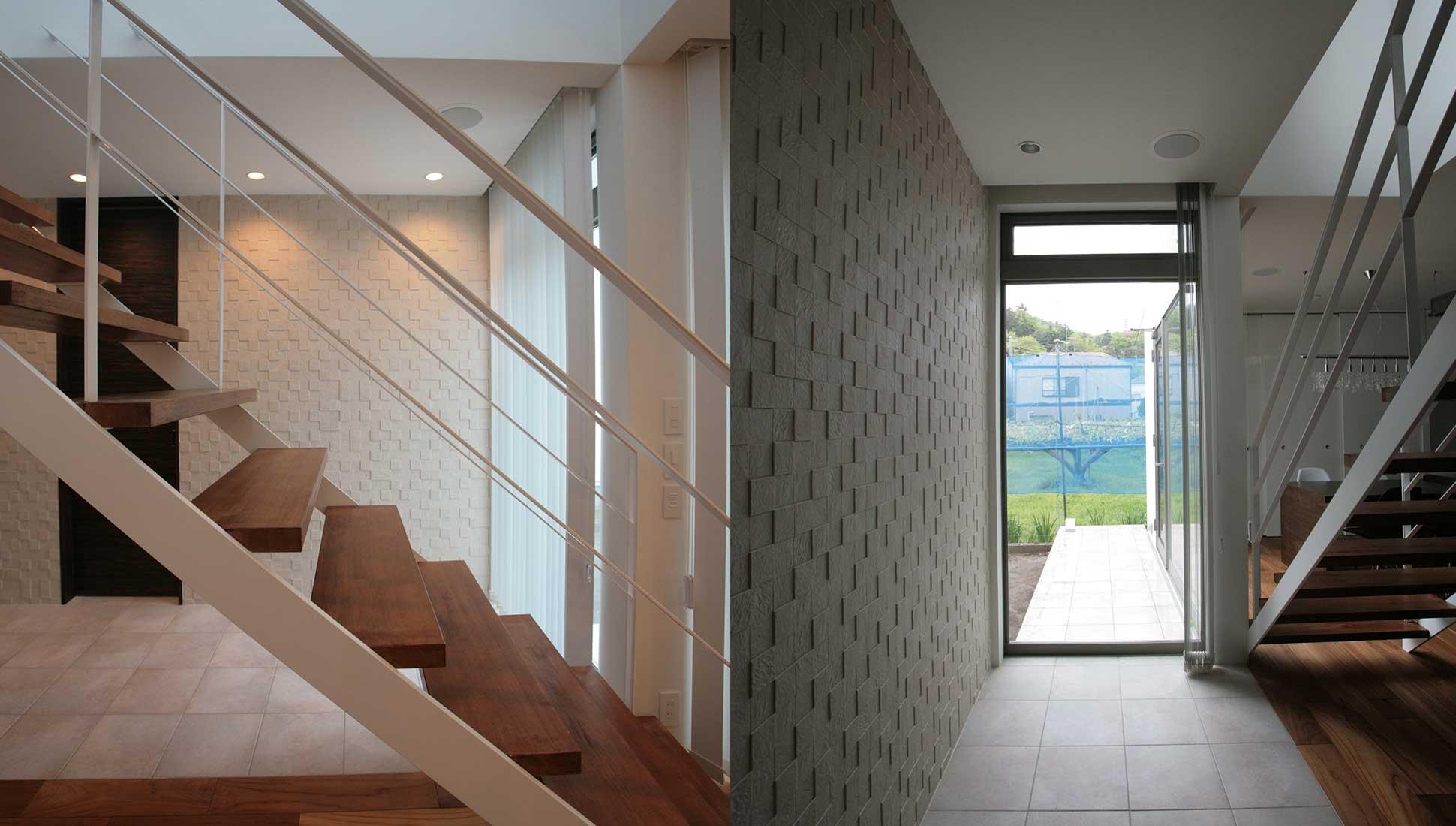 農園の見える窓と通り土間:通り土間を、おしゃれにデザイン