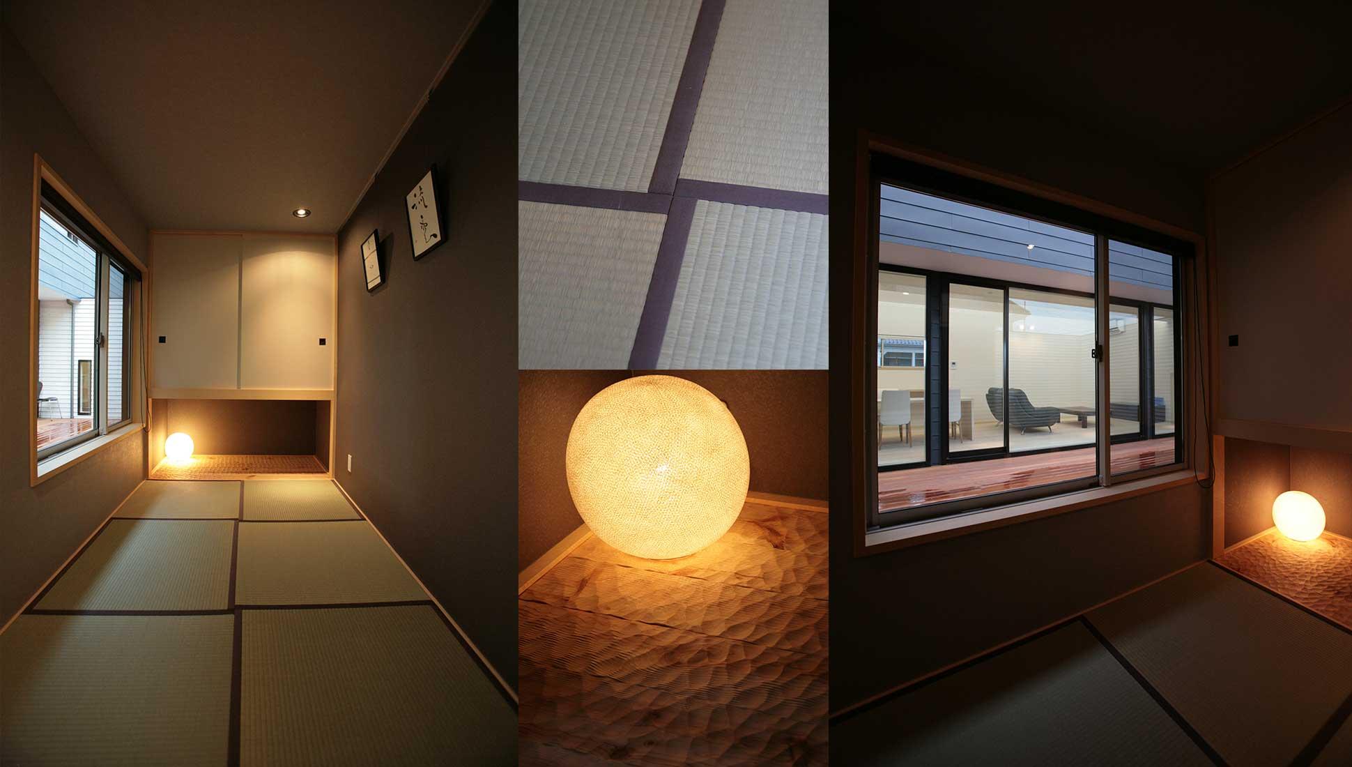 ミニマムな離れの和室:30坪の家を35坪にする中庭のある家_木更津