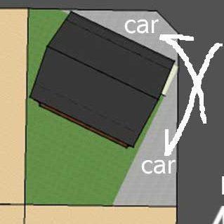 方位を考慮した立地、窓で間取りのわからない外観