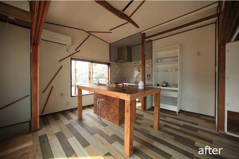 天井をオープンにして広々にした≪改修後≫:一軒家のリノベーション