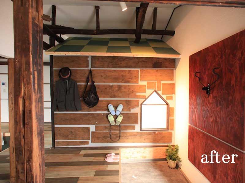 大きな玄関ホールへリノベ≪改修後≫:一軒家のリノベーション