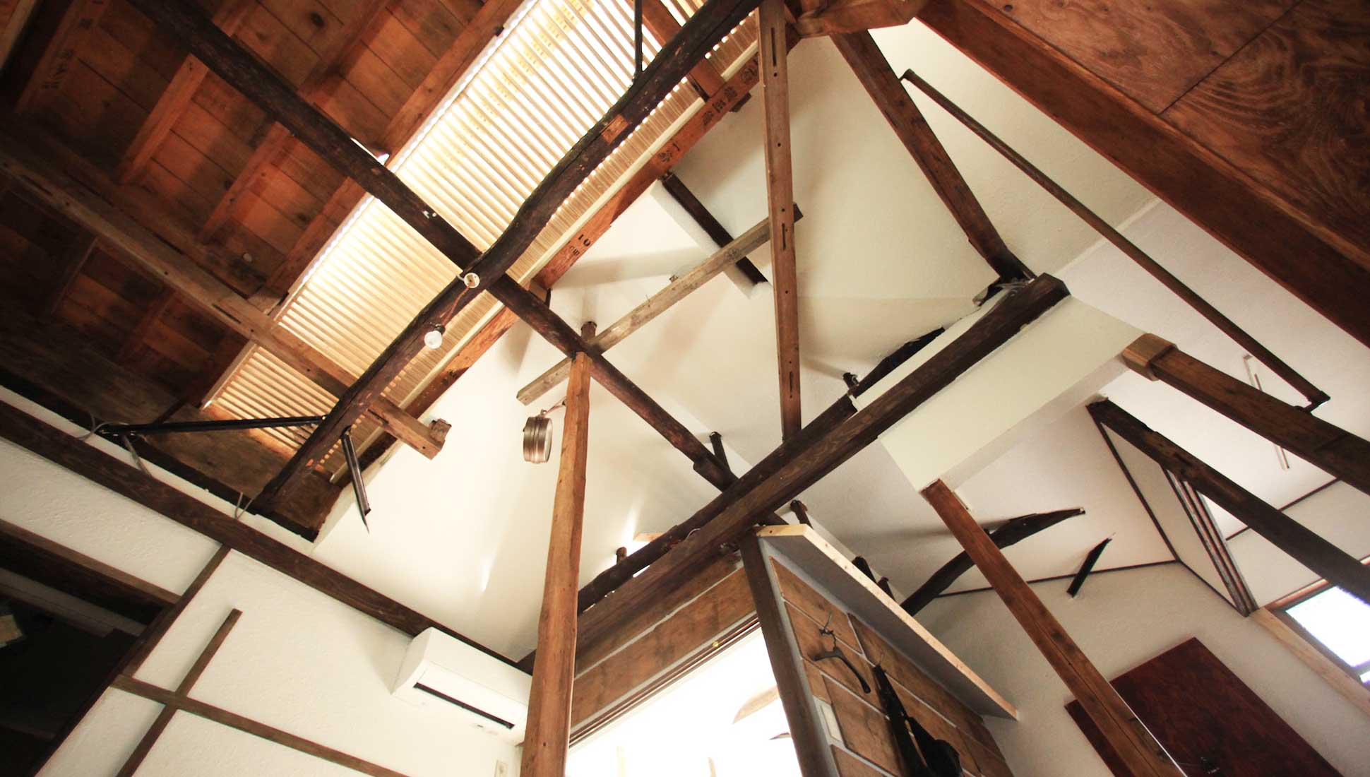 天井を生かしたリノベーション:一軒家のリノベーション