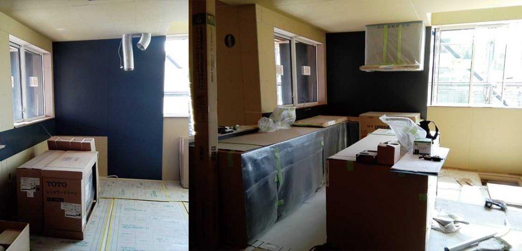― 南側にキッチンを配置した注文住宅の実例 ―