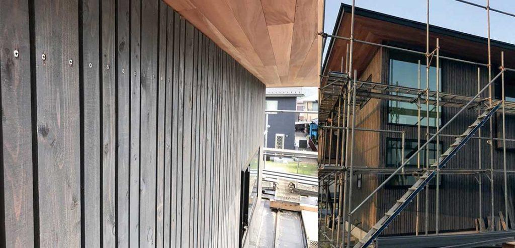 ファサードラタン外壁:君津の戸建て新築