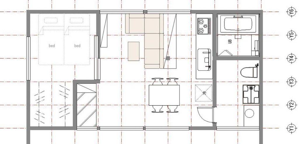 ― 12.5坪の小さい家の間取り例 ―