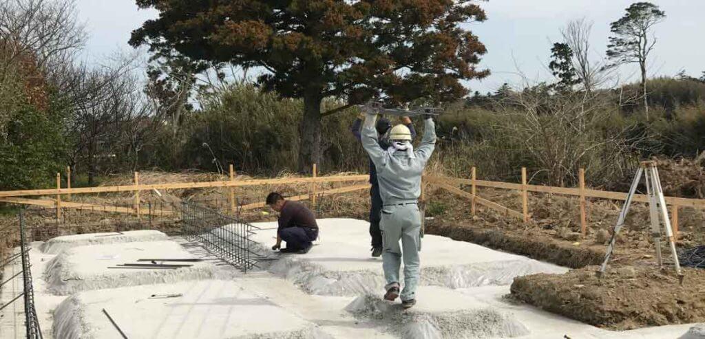― 基礎工事 鉄筋工事②千葉県いすみ市 平屋の注文住宅 ―
