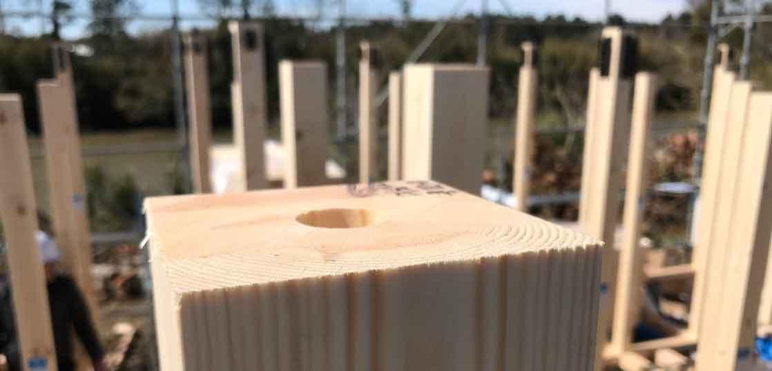 ピン工法 柱穴
