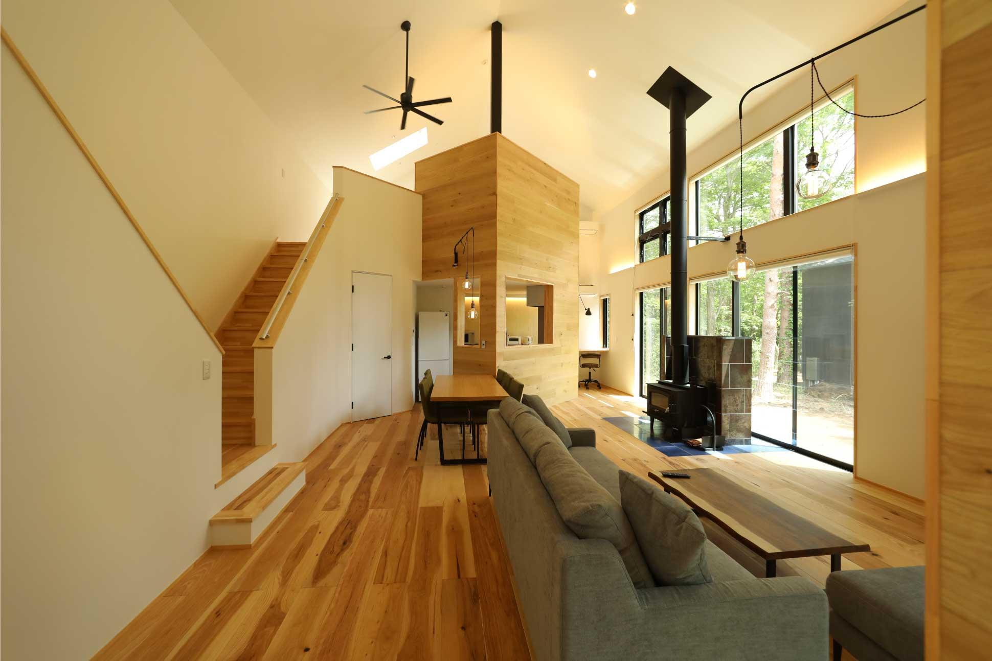 大屋根の一室空間